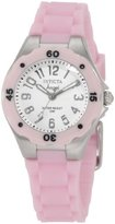 Invicta Women's 1612 Angel White Dial Pink Silicone Watch