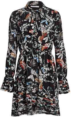 Derek Lam 10 Crosby Bell-Sleeve Floral Dress
