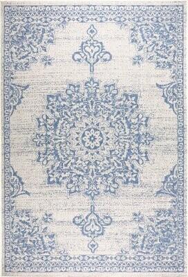 Nicole Miller Medallion Power Loom Gray/Blue Rug