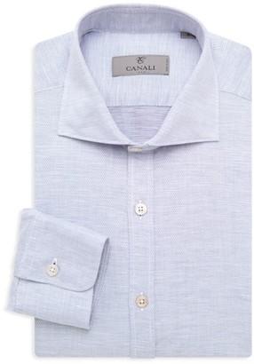 Canali Modern-Fit Woven Dress Shirt