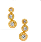 Logan Hollowell - New! Tri Star Set Diamond Earring Studs 5943002435