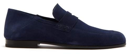 Harry's of London Edward Suede Loafers - Mens - Navy