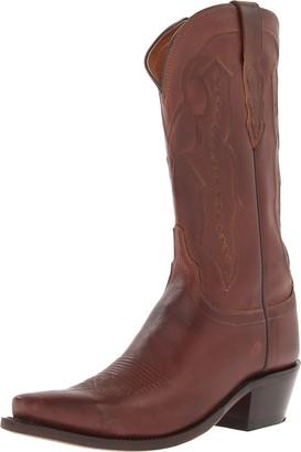 Lucchese Classics Women's Grace-tan Ranch Hand Riding Boot 6.5 B US