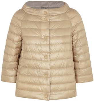 Herno Reversible navy quilted shell jacket