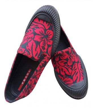 Prada Red Cloth Trainers