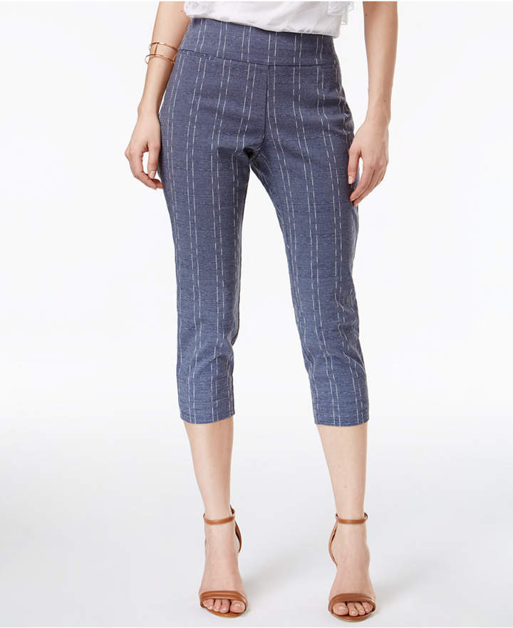 Alfani Printed Pull-On Capri Pants, Created for Macy's