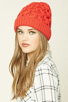 Forever 21 Honeycomb Fold-Over Beanie