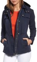 Vince Camuto Women's Hooded Drawstring Waist Jacket