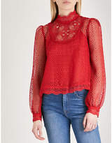 The Kooples Frilled neckline lace shirt