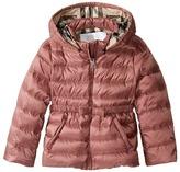 Burberry Mini Janie Checked Hood Jacket Girl's Coat