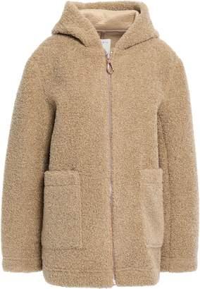 Sandro Faux Shearling Hooded Coat