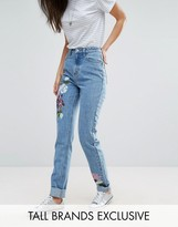 Glamorous Tall Boyfriend Jean With Painted Floral