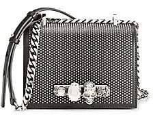 Alexander McQueen Women's Small Skull Jewelled Studded Leather Satchel