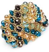 Style&Co. Style & Co. Gold-Tone Blue Bead Stretch Bracelet, Only at Macy's