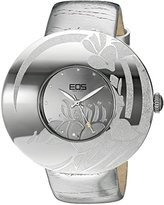 EOS New York Women's 53SSIL Jasmine Silver Leather Strap Watch