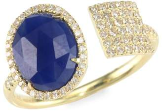 Meira T Sapphire, Diamond & 14K Yellow Gold Wrap Ring