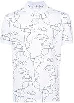 Neil Barrett Siouxsie print polo shirt