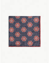 ELEVENTY Floral medallion pocket square
