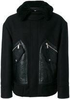 DSQUARED2 hooded jacket - men - Calf Leather/Polyamide/Polyester/Virgin Wool - 46