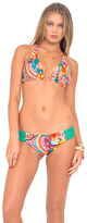 Luli Fama Chasing Waterfalls D/DD Cup Triangle Halter In Multicolor (L446073)
