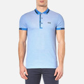 BOSS GREEN Men's Paule 4 Polo Shirt Medium Blue