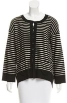 Sonia Rykiel Striped Pleated Cardigan