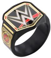 WWE Men's Championship Title Stainless Steel Black IP Ring