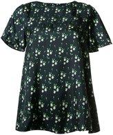 A.P.C. floral print T-shirt - women - Silk - 42