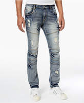 Reason Men's Baltic Skinny-Fit Ripped Moto Jeans