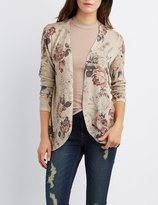 Charlotte Russe Floral Print Cocoon Cardigan