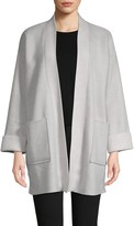 Donna Karan Open-Front Bed Jacket