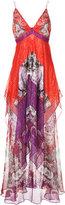 Roberto Cavalli layered gown