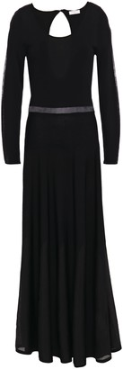 Sandro Zephir Cutout Ribbed-knit Maxi Dress