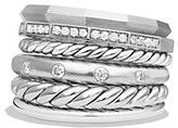 Thumbnail for your product : David Yurman Stax Wide Ring with Diamonds