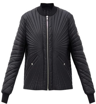 Moncler + Rick Owens Radiance Logo-patch Quilted Down Jacket - Black