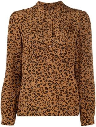A.P.C. Leopard-Print Blouse
