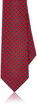 Barneys New York Men's Medallion-Print Silk Satin Necktie