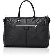 Balenciaga Men's Arena Leather Classic Weekender Bag