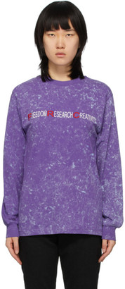 032c Purple Freedom Research Creativity Long Sleeve T-Shirt