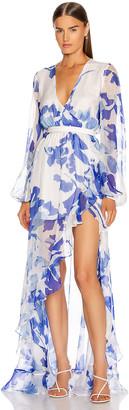 Caroline Constas Liv Gown in Blue | FWRD