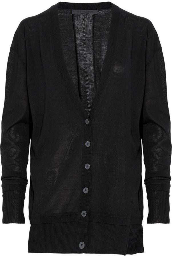 Alexander Wang Split-side wool cardigan