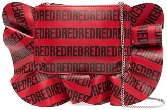 Red(V) Rock Ruffles XL pochette bag
