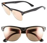 Ray-Ban Women's 'Highstreet' 57Mm Sunglasses - Black/ Brown Pink