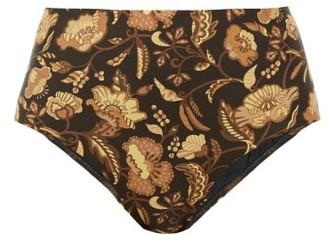 Matteau The High Waist Floral-print Bikini Briefs - Yellow Print