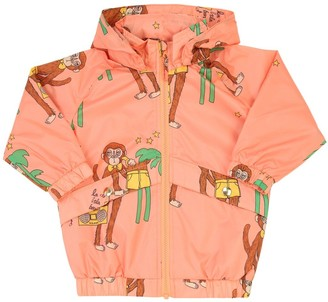 Mini Rodini Monkey Print Nylon Rain Coat