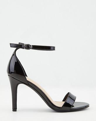 Le Château Patent Faux Leather Open Toe Sandal