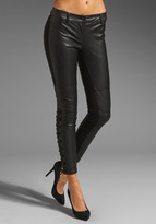 RVN Lace Up Ponte Faux Leather Pants