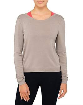Good American Back Deep V Sweater