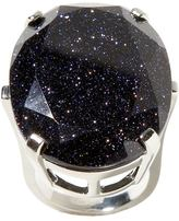 Midnight faceted-stone ring