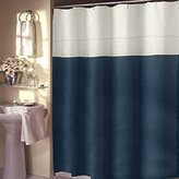Veratex 647765 Pacifica Unlined Luxury Linen Shower Curtain, Dark Teal
